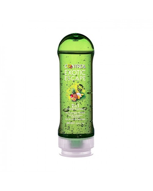 Control Exotic Escape Gel de Masaje Verde 200 ml